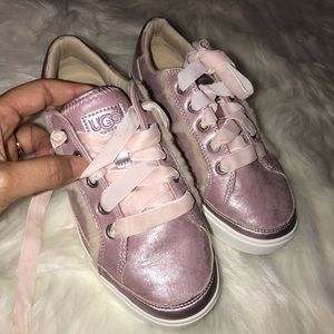 UGG Girls K Alanna Sneakers shoes Pink shimmery